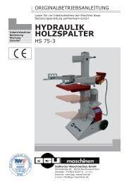 HYDRAULIK HOLZSPALTER - BGU Maschinen