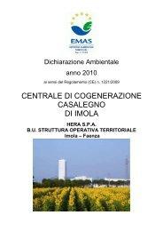 Dichiarazione ambientale EMAS anno 2010 per ... - Il Gruppo Hera