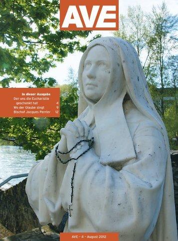 In dieser Ausgabe Der uns die Eucharistie geschenkt hat 4 Wo der  ...