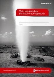 Mein persönliches Bluthochdruck-Tagebuch. - Aliud Pharma GmbH ...