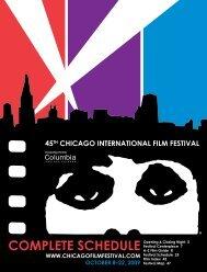 COMPLETE SCHEDULE - Chicago International Film Festival