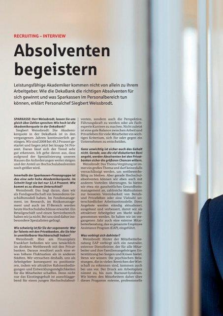 ABSOLVENTEN BEGEISTERN - Sparkassenzeitung