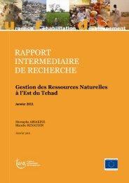 Gestion des ressources naturelles à l'Est du Tchad - Groupe URD