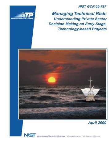 Managing Technical Risk: - NIST Advanced Technology Program ...