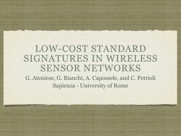 low-cost standard signatures in wireless sensor ... - Internet Society