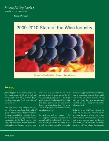 2009-2010 State of the Wine Industry - Silicon Valley Bank