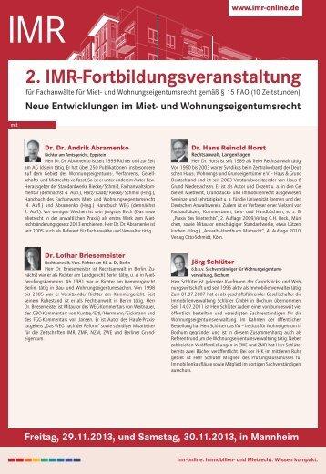 Seminardetails als PDF - ibr-online