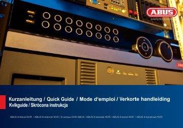 Kurzanleitung / Quick Guide / Mode d'emploi / Verkorte ... - Abus