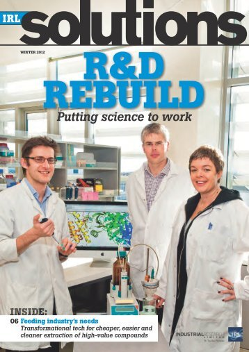 IRL Solutions - Winter 2012 - Industrial Research Limited