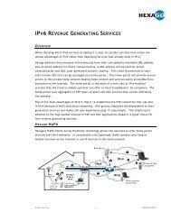 IPV6 REVENUE GENERATING SERVICES - Showcase Home Portal