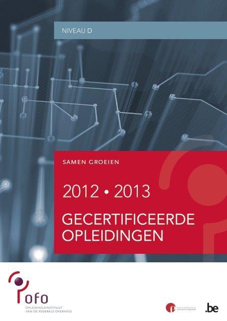 gecertificeerde opleidingen niveau D (PDF, 778.28 Kb) - Fedweb