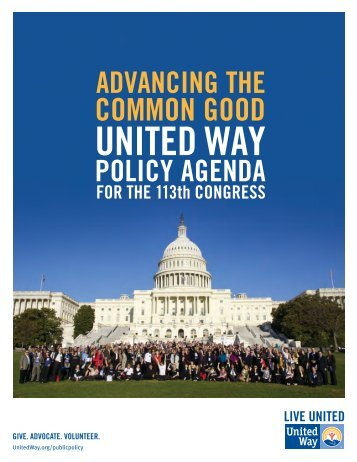 United Way Worldwide's Policy Agenda for the 113th Congress