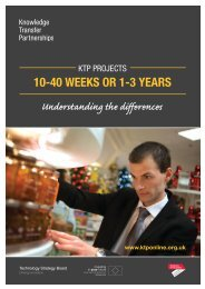 KTP Projects 10-40 weeks or 1-3 years - SUPORT SME University ...
