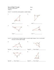 Special Right Triangle Formative Assessment