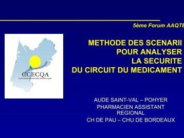 Méthode des scénarii pour analyser la sécurité du circuit du ... - ADIPh