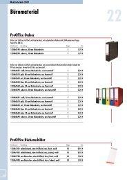 ProOffice Trennstreifen