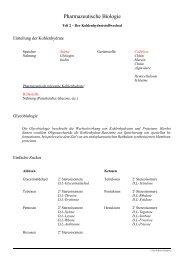 Vorlesung Pharmazeutische Biologie Derivate des Kohlenhydrat ...