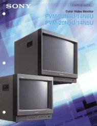 Описание Sony PVM-20N6U в формате PDF