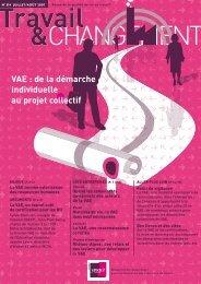 Réseau Anact - VAE : de la démarche individuelle au projet collectif