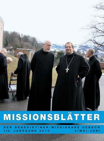 """MISSIONSBLÃ""""TTER - Abtei St. Otmarsberg Uznach"""