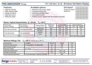 "1. 3"" ( 32 mm ) 8 x 8 Bi- Colour Dot Matrix Display - Forge Europa"