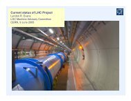 Current status of LHC Project - LHC Machine Advisory Committee ...