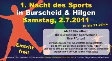 1. Nacht des Sports in Burscheid & Hilgen Samstag, 2.7.2011