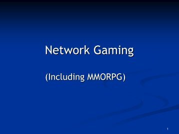 Network Gaming