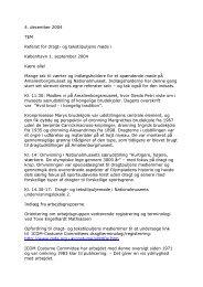 Dragtpuljemøde 1. september 2004 - Dragter i Danmark