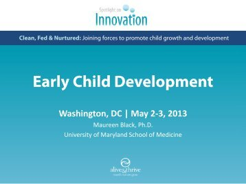 Early Child Development Intervention - Alive & Thrive