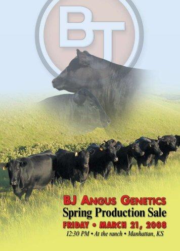 BJ Angus Genetics Breeding Guarantee - Angus Journal