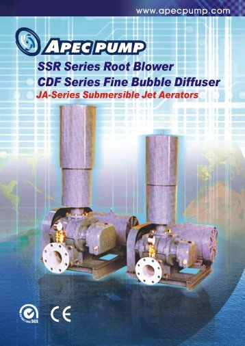 SSR Series Root Blower CDF Series Fine Bubble Diffuser