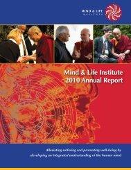 Mind & Life Institute 2010 Annual Report
