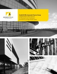 Grubb & Ellis Corporate Finance Group