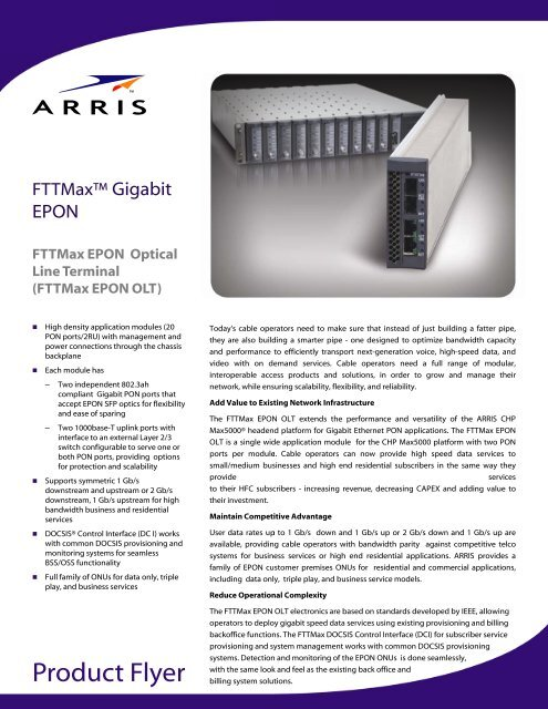 FTTMax EPON OLT - Arris