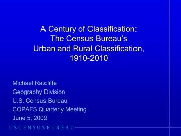 The Census Bureau's Urban and Rural Classification, 1910-2010