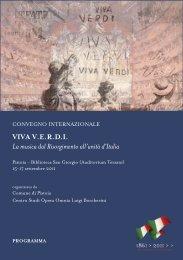 Programme - Centro Studi Opera Omnia Luigi Boccherini