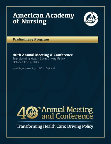 Preliminary Program - American Academy of Nursing