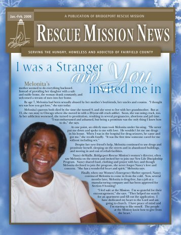 January / February 2009 - Bridgeport Rescue Mission