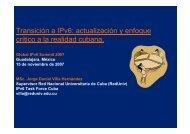Transición a IPv6: actualización y enfoque crítico a la realidad cubana.
