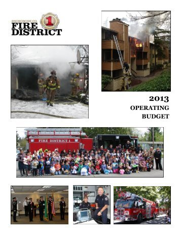 OPERATING BUDGET - Snohomish County Fire District 1