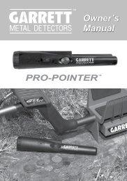 PRO-POINTER Manual - Garrett