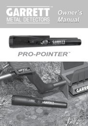 PRO-POINTER Manual - Garrett
