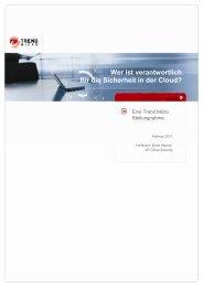 Wer ist verantwortlich für die Sicherheit in der Cloud? - Trend Micro