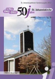 Festschrift zum 50. Jubiläum der St. Johanniskirche