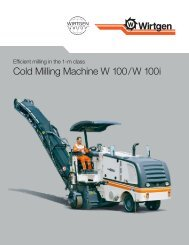 Cold Milling Machine W 100 / W 100 i - Wirtgen GmbH