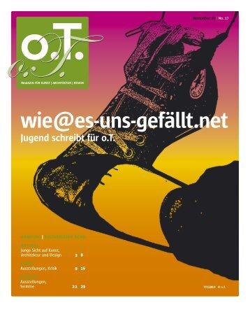 November 07 - Das Magazin für Kunst, Architektur und Design