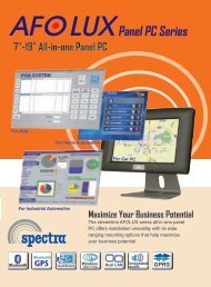 AFOLUX All-in-one Panel PC Family - Spectra