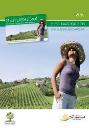 GenussCard Gastgeber als PDF zum Downloaden - Oststeiermark