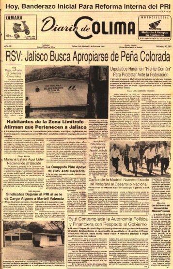 RSV. Jalisco Busca Apropiarse de Peña Colorad a - Universidad de ...
